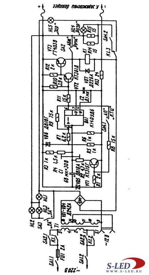 Авто-зарядное устройство - мото-акк.  6V Электроника от А до Я.