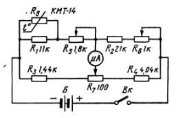 Схема медицинского термометра